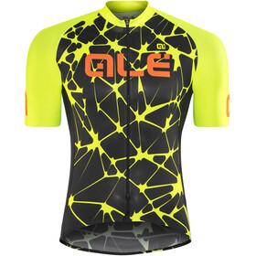 Alé Cycling Cracle Fietsshirt korte mouwen Heren geel/zwart